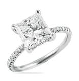 2.54 ct Princess Cut Diamond Pave-Basket Engagement Ring