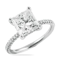 princess cut diamond 2.5 carats engagement ring