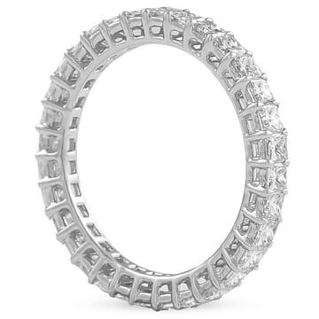 1.77 Carat Princess Cut Diamond Eternity Band front view white gold