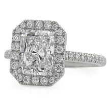 2.02 carat Radiant Cut Diamond Halo Engagement Ring