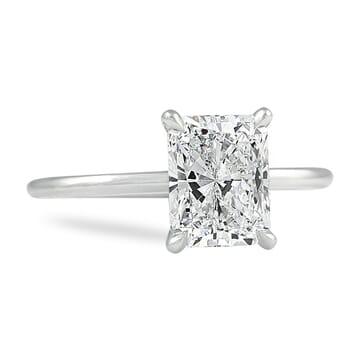 1.81 carat Radiant Cut Diamond Super Slim Band Ring