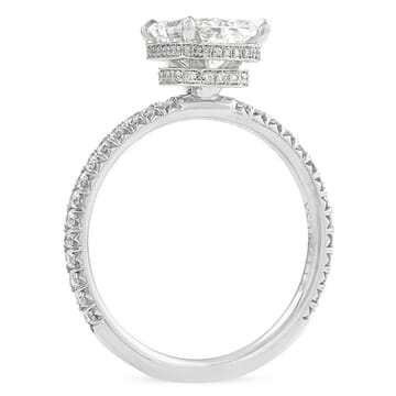 1.5 carat Radiant Cut Diamond Double Signature Wrap Engagement Ring