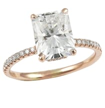 RADIANT CUT MOISSANITE ROSE GOLD RING