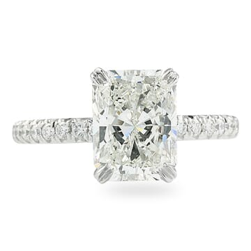2.01 Carat Radiant Cut Diamond Signature Wrap Engagement Ring