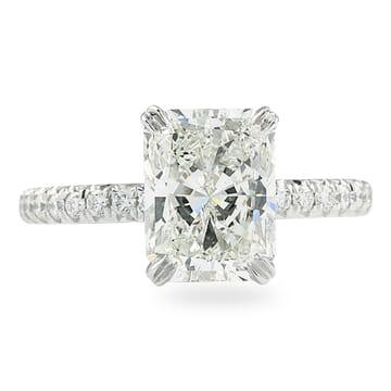 2.01 Carat Radiant Cut Diamond Signature Wrap Engagement Ring