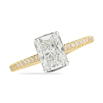 RADIANT CUT DIAMOND YELLOW GOLD ENGAGEMENT RING
