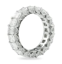 5 ct radiant cut eternity band with pave detailing