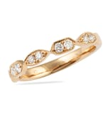 .30 CT ROUND DIAMOND ROSE GOLD MULTI-SHAPE BEZEL RING