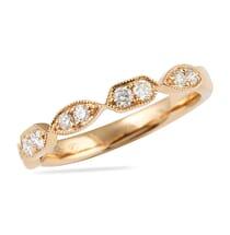 rose gold wedding band bezel setting