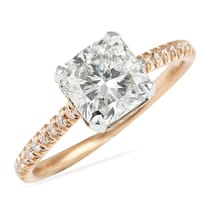 SQUARE CUSHION CUT DIAMOND ROSE GOLD ENGAGEMENT RING