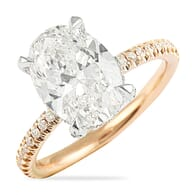3 CARAT OVAL DIAMOND TWO TONE ENGAGEMENT RING