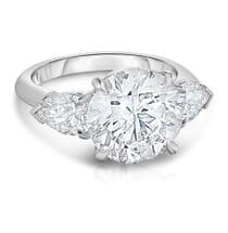 4.5 CARAT ROUND DIAMOND THREE STONE ENGAGEMENT RING