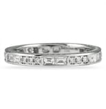 0.80 Carat Baguette And Round Diamond Channel Set Band