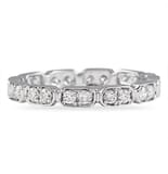 .50 CT ROUND DIAMOND TWIN BEZEL ETERNITY BAND