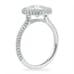 CUSTOM ENGAGEMENT RING ROUND BEZEL SET DIAMOND WITH HALO AND TRIPLE ROW BAND