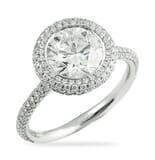 2.05 ct Round Diamond Platinum Three-Row Band Engagement Ring
