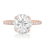 Round Moissanite Rose Gold Engagement Ring