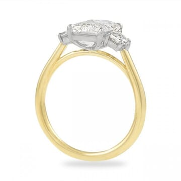 2 ct Emerald Cut Diamond Three-Stone Engagement Ring