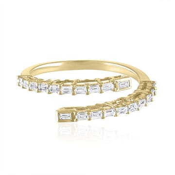 Baguette Wrap Around Ring yellow gold