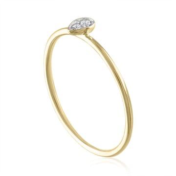 Bezel Set Pear Shape Ring