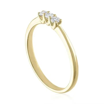 Triple Diamond Band yellow gold