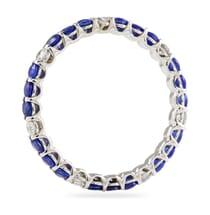 sapphire and diamond eternity band alternating design