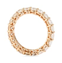 2.5 CT SHARED PRONG ROSE GOLD ETERNITY BAND