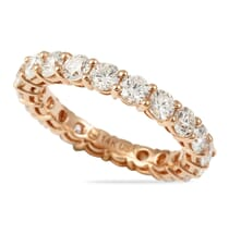 shared prong eternity band white gold 2.4 carats