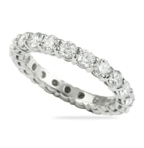 platinum shared prong eternity ring