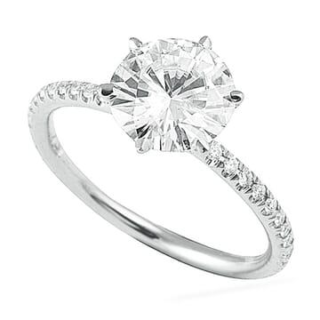 ROUND DIAMOND IN CUSTOM SIX PRONG SETTING