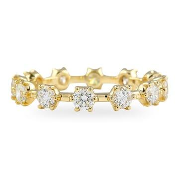 1.10 Carat Round Diamond 'Snowflake' Eternity Band