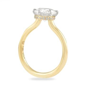 1.81 Carat Round Diamond Invisible Gallery™ Solitaire Ring