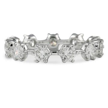 1.65 CT ROUND DIAMOND 'SNOWFLAKE' ETERNITY BAND