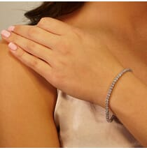 4 carat tennis bracelet diamond in white gold