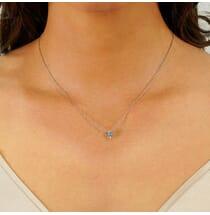 1.5 carat round diamond solitaire pendant