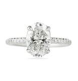 2.02 Carat Oval Diamond Signature Wrap Engagement Ring