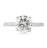 2.19 Carat Round Diamond Signature Wrap Engagement Ring