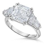 4.02 ct Asscher Cut Diamond Five-Stone Engagement Ring