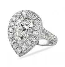 PEAR SHAPE 2 CARATS IN HALO WITH SPLIT BAND