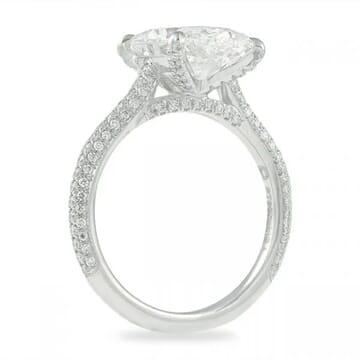 4 carat oval diamond engagement ring