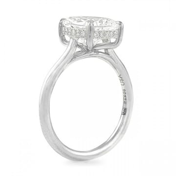 3 carat cushion cut solitaire ring