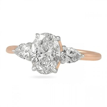 1.20 Carat Oval Diamond Invisible Gallery™ Three-Stone Ring