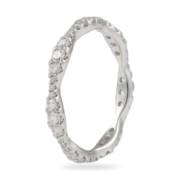graduating size diamond eternity band white gold