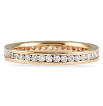 rose gold channel set eternity band