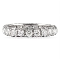 3 ROW ETERNITY BAND WITH LARGER CENTER ROW