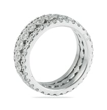 BEZEL AND PAVE SET ETERNITY BAND IN WHITE GOLD