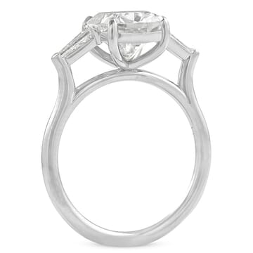 Cushion Moissanite Three-Stone Engagement Ring