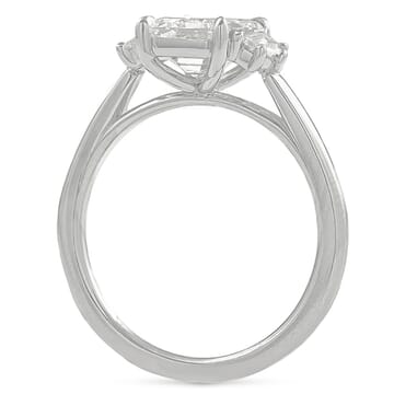 1.80 ct Emerald Cut Diamond Three-Stone Ring