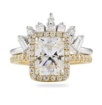 BAGUETTE AND ROUND DIAMOND TIARA RING