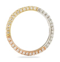 TRI COLOR DIAMOND WEDDING BAND